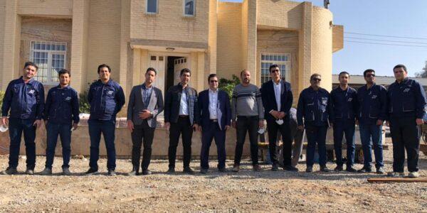 مهندسین و مدیران مجتمع سوله ارا استیل یزد